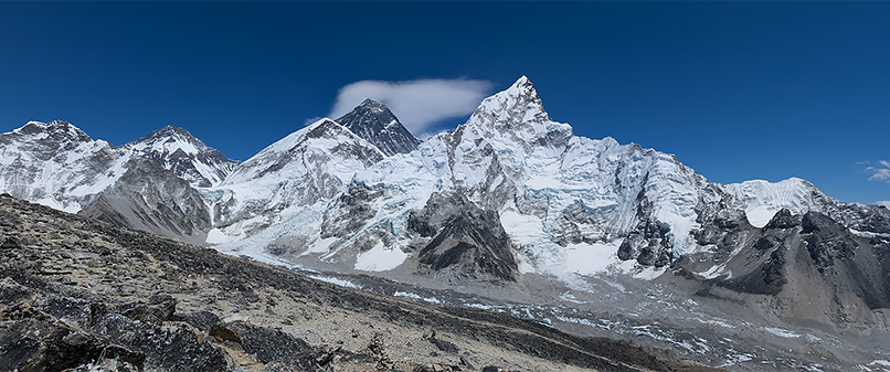 Mount Everest seen from Kala Pattar.